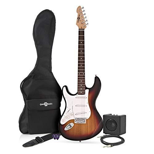 3/4 LA Left Handed Electric Guitar + Miniamp Sunburst: Amazon.es: Instrumentos musicales