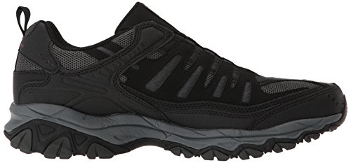 Skechers Mens Afterburn M. Mocassino Aderente Nero / Antracite
