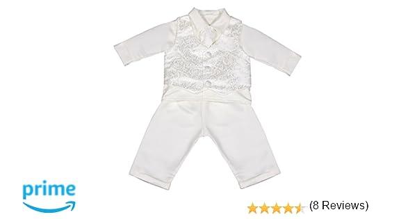 4ad09e288 Vivaki para Bautizo de Atuendo Bañador para bebé de Color Blanco:  Amazon.es: Ropa y accesorios