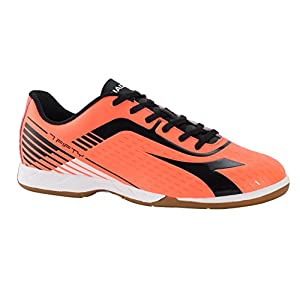 Diadora 7Fifty ID Men's Indoor Soccer Shoes (9.5 D(M) US Men's, Red Fluo/Black)