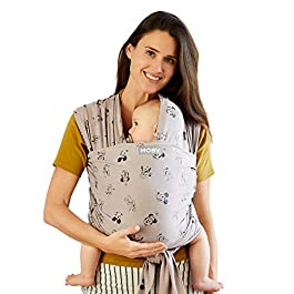 Moby Wrap Baby Carrier | Vintage Mickey & Friends | Baby Wrap Carrier for Newborns & Infants | #1 Baby Wrap | Keeps Baby…