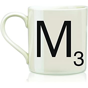 scrabble letter m scrabble mug creamblack