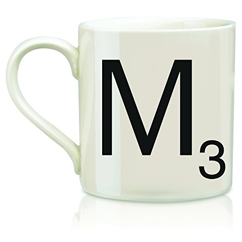 "SCRABBLE Vintage Ceramic Letter""M"" Tile Coffee Mug"