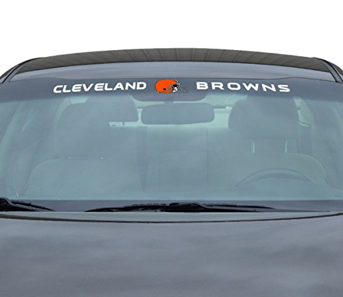 NFL Cleveland Browns Windshield Decal, Orange, - Outlets Cleveland