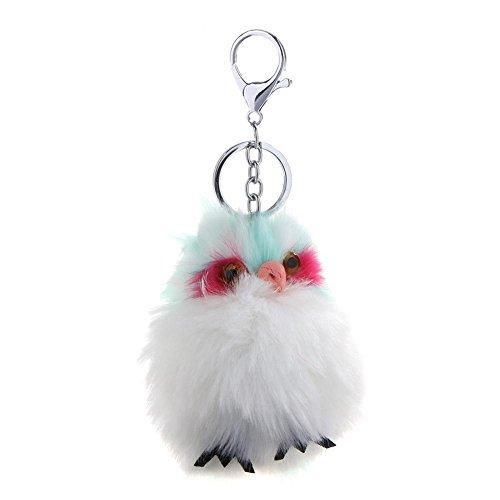 Jocestyle Fashion Clothing Accessories Cute Animal Shape Faux Rabbit Fur Key-Chain Key Ring Hanging Ornaments Gift
