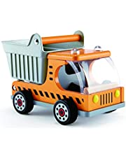 Hape Dump Truck Kid's Wooden Construction Toys Vehicle