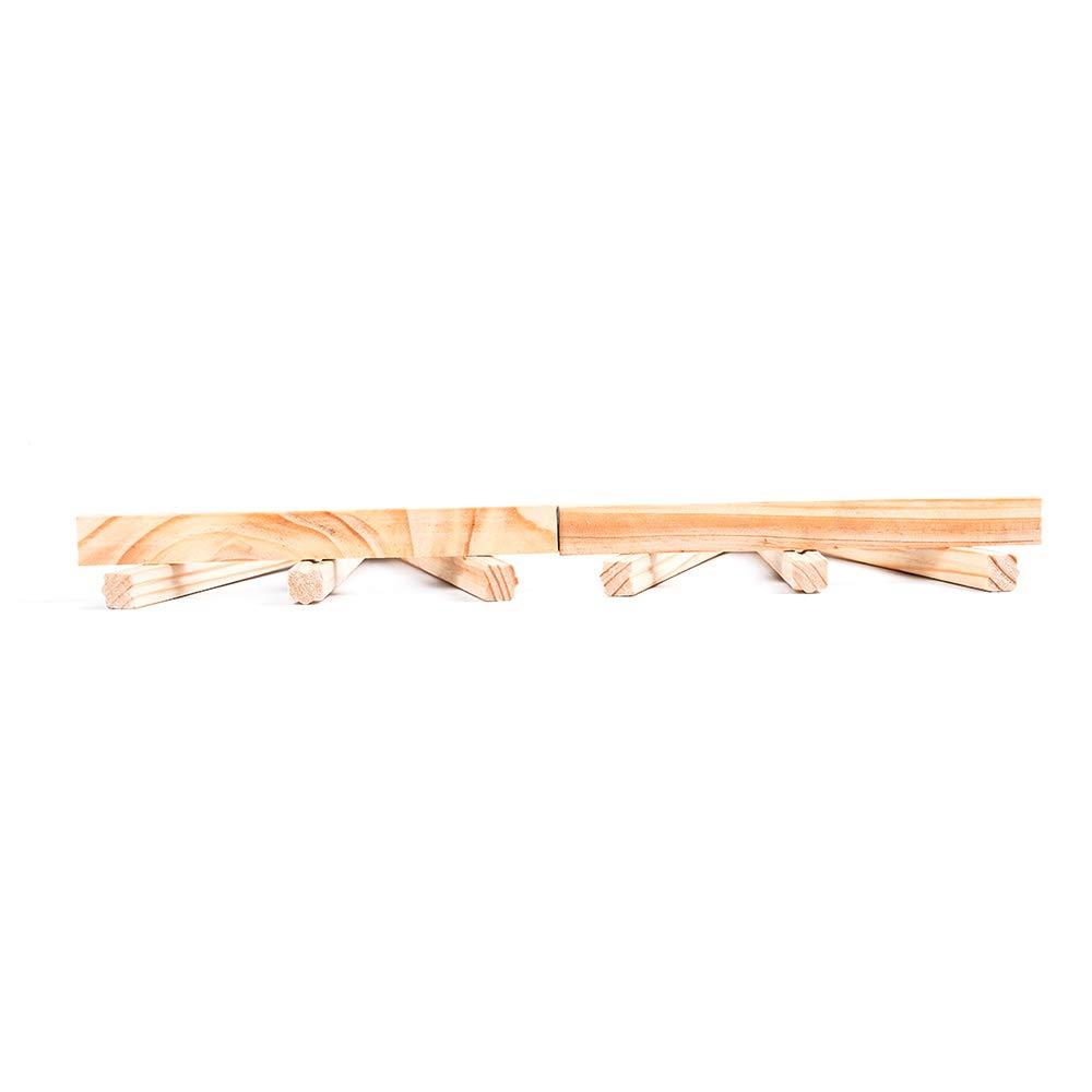 Leslaur 2 pezzi mini cavalletto in legno da tavolo in legno per cavalletti supporto per esposizione per decorazioni per feste 24 cm 1PJ00585-2 cavalletto per triange