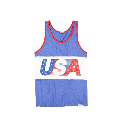 748c2e042ab outlet Men s Patriotic American Flag Tank Top - USA Red White and Blue Tank  Top Shirt