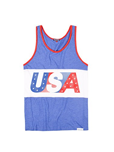 Flag Mens Tank Top (Tipsy Elves Men's USA Tank Top - American Flag Tank Top: Large)