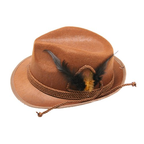 Forum Novelties 65767 Deluxe Oktoberfest Hat, Brown, One Size -