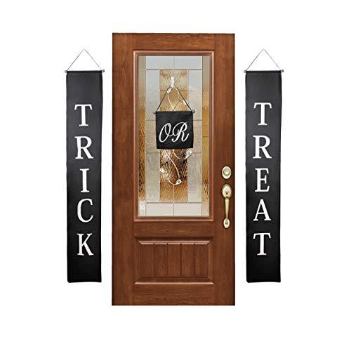 Besti Trick or Treat Banner Halloween Decorations (3-Piece Set) Indoor and Outdoor Door Hanging Decor | Cute Home or Office Display | Easy to Hang, Reusable Design