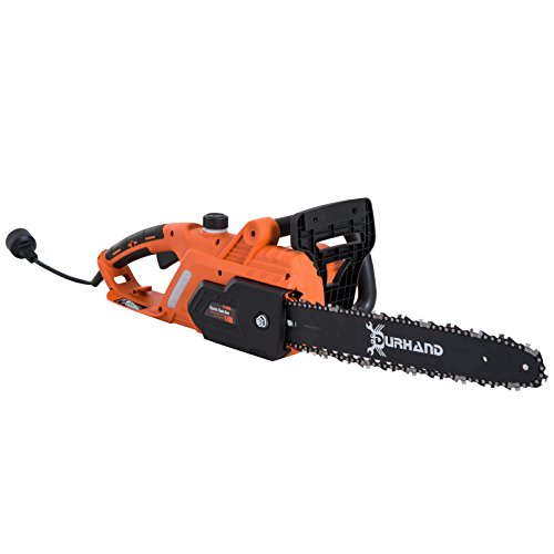 DURHAND 16″ 13-Amp Adjustable Tension Corded Electric Chainsaw – Orange