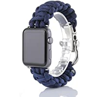 For iWatch Apple Watch 42mm, Sunfei NEW Nylon Rope Survival Bracelet Watch Band