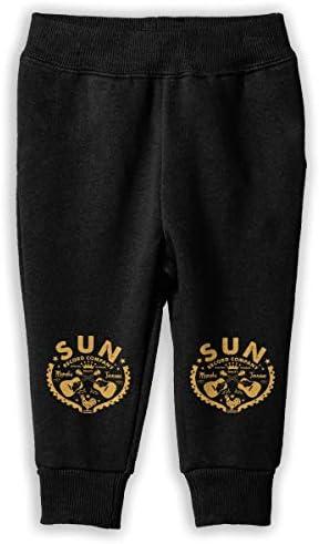Sun Records Company ロングパンツ スウェットパンツ 男の子 女の子 キッズ 日常 通学 カジュアル 汗染み防止 弾性 通気性 耐久性 春秋 肌触りよく 柔らかい 下着 卒業式