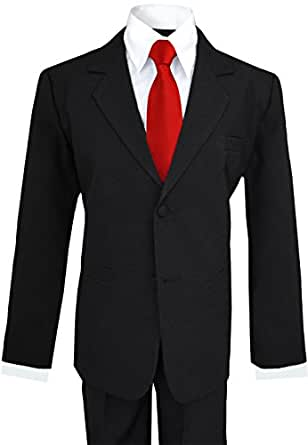 Amazon Com Big Boys Black Suit With Vibrant Red Long Neck