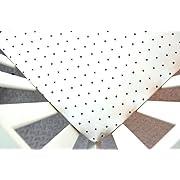 Crib Sheet in White Gray Cross (Guava Lotus Travel Crib Sheet)