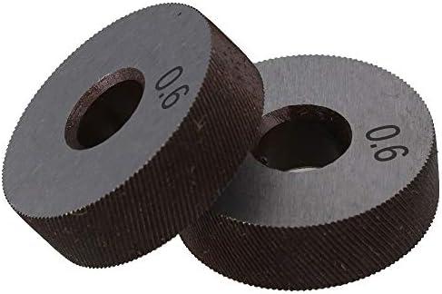 No Logo Rändelfräswerkzeuge 1 Paar 0.6mm Wälzfräser Rad Rändelrad Strukturierter Knurled Lathe Prägeradabschnitt Werkzeugmaschinen Zubehör Hebt für Metalldrehmaschine