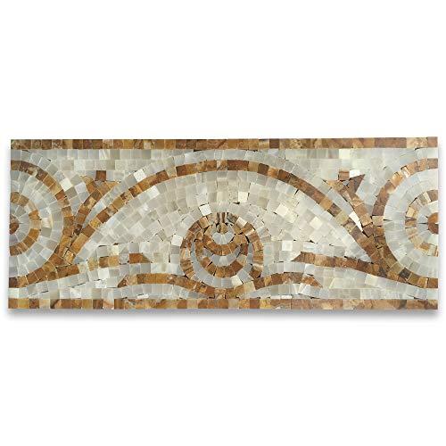 - Stone Center Online Mirage Onyx 6.3x15.7 Marble Mosaic Border Listello Tile Polished