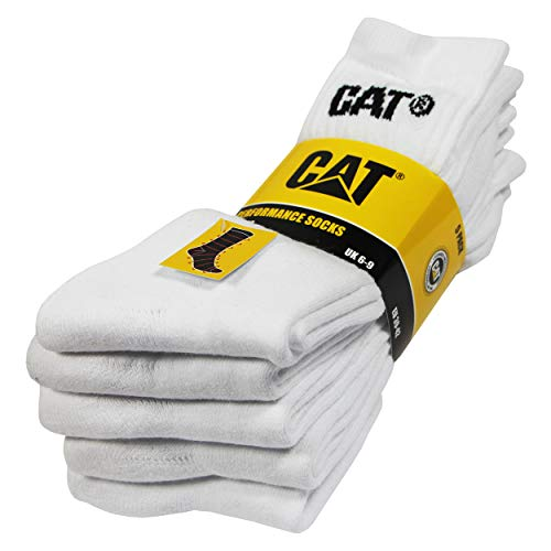 Caterpillar Performance Socks 5 pairs of men's socks, excellent quality cotton yarn, terry insole and instep, reinforced toe and heel