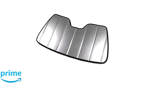 Sunshade Visor Silver /& Grey 1-pc Set Compatible With 2016-2019 Honda Pilot Tuningpros SS-144 Custom Fit Car Windshield Sun Shade Protector
