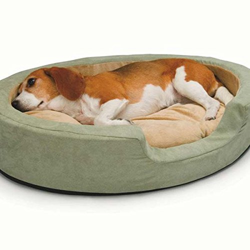 K&H Pet Products Thermo Snuggly Sleeper Oval Medium Sage 26