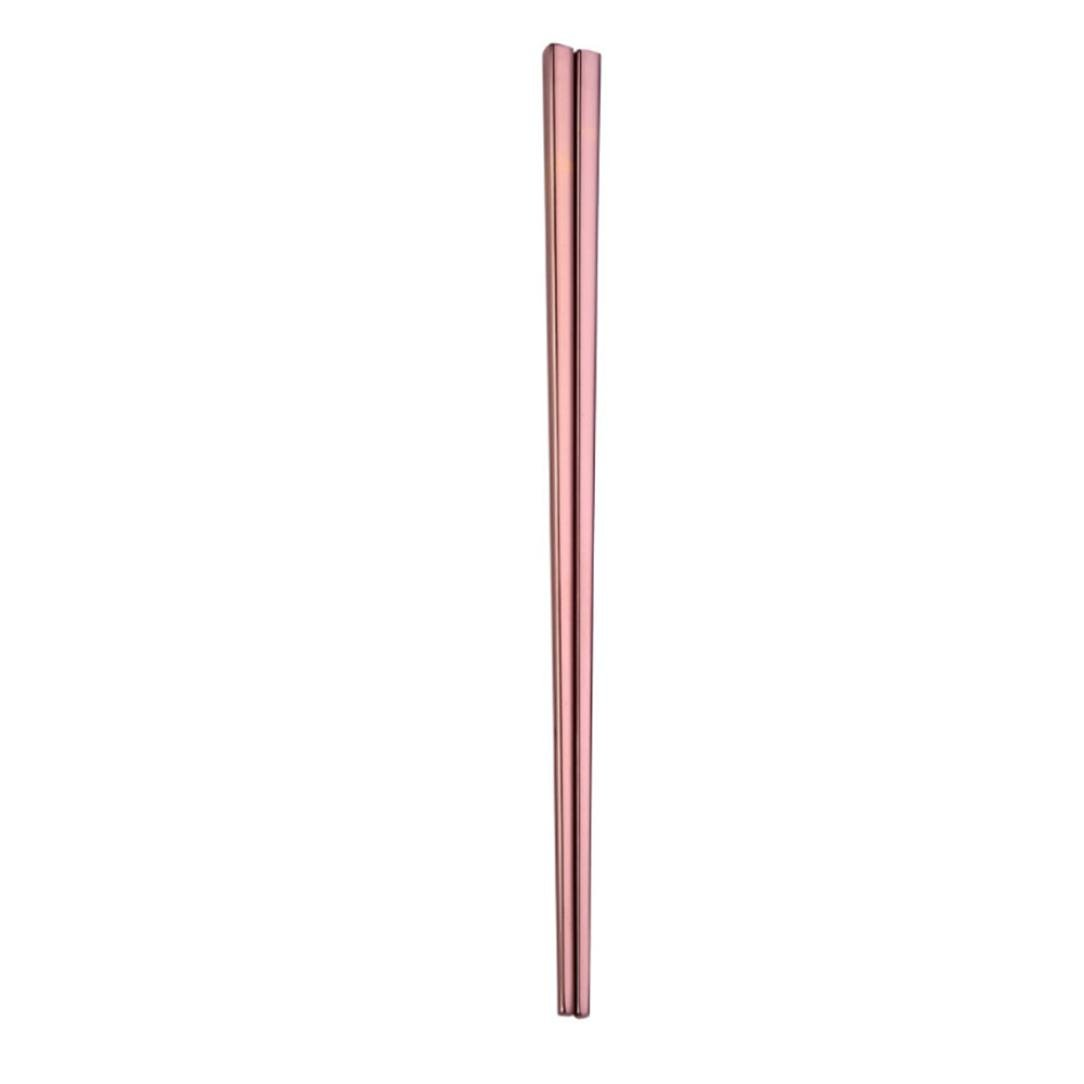 Stainless Steel Chopsticks, Iuhan Stainless Steel Tableware Colorful Chopsticks 23cm (Rose Gold)