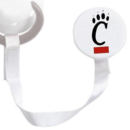 Amazon.com: Cincinnati Bearcats Blanco Clip para chupete ...