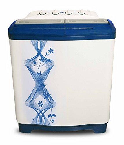 Mitashi MiSAWM75v10 Semi-automatic Top-loading Washing Machine (7.5 Kg, White and Blue)