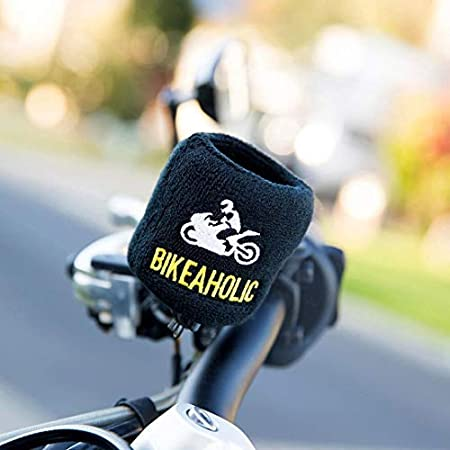 Brake Fluid Reservoir Cover Sock for Motorcycles Sporbikes and Gifts by Moto Loot Bikeaholic