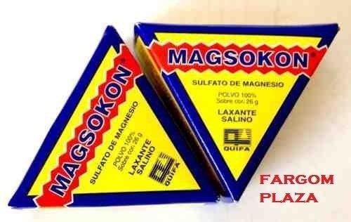 Amazon.com: (2)two Magsokon Triangles Sal De Higera Sulfato De Magnesio Laxante by Quimica y Farmacia S.A. de C.V.: Health & Personal Care