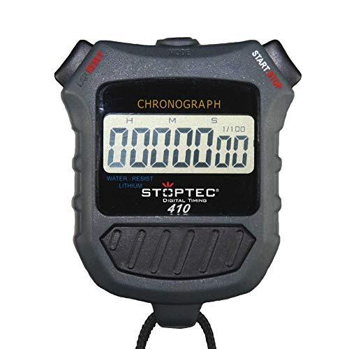 Stoptec Stopwatch 410 – digitale professionele stopwatch met drukpuntmechanisme | eenvoudige vervanging van de batterij…