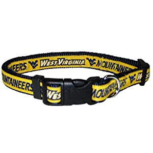 Mirage Pet Products West Virginia University Collar for Dogs and Cats, Small