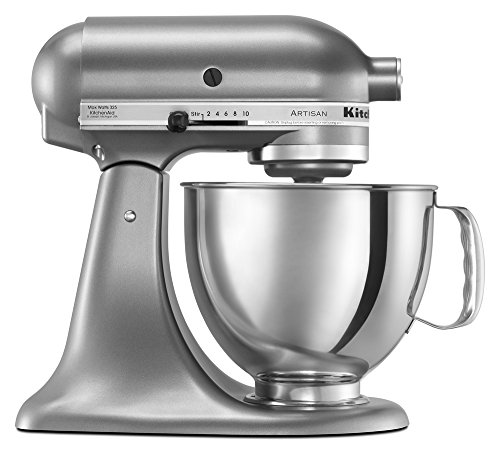 KitchenAid KSM150PSCU Artisan Series 5-Qt. Stand Mixer with Pouring Shield - Contour Silver (Kitchenaid Mixer Bread Hook)