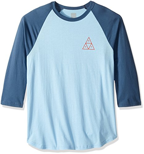 - HUF Men's Triple Triangle Raglan Shirt, Indigo Denim, S