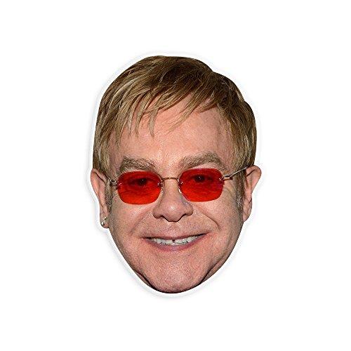 """Happy Elton John Mask by RapMasks - 12"""" x 9"""" Waterproof (Dress Like A Celebrity Halloween Costumes)"""