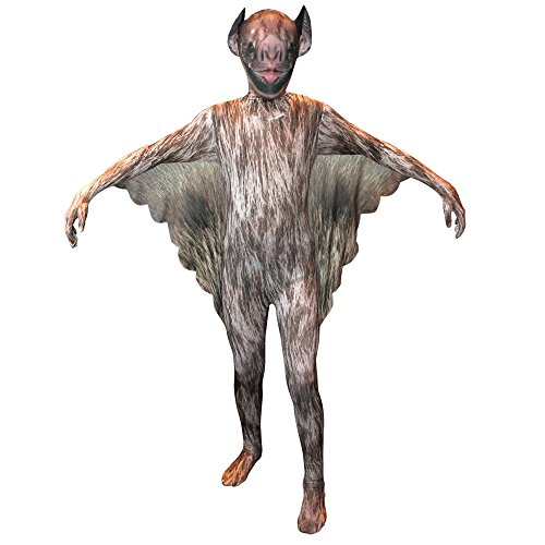 Morphsuit Superhero (Vampire Bat Kids Animal Planet Morphsuit Costume - size Medium 3'6-3'11 (105cm-119cm))