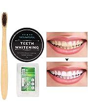 Tanden bleken houtskoolpoeder, 30g tandbleekpoeder, natuurlijke organische tandenbleekmiddel, actieve kool tandenreinigingspoeder tandenborstel floss set