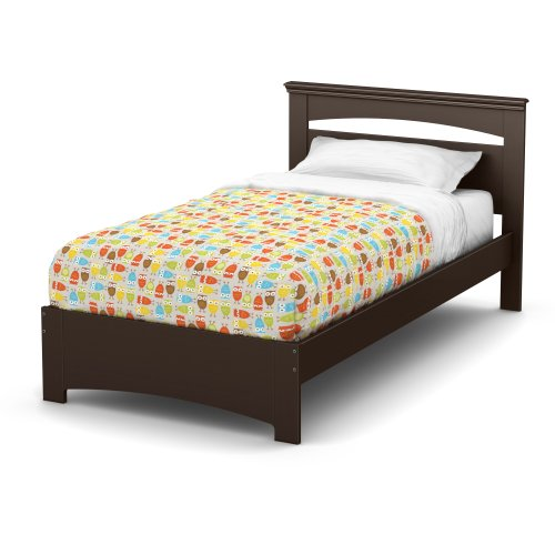 South Shore Libra Bed & Headboard Set, Twin 39-Inch, Chocolate