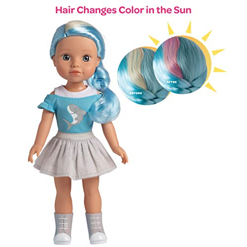 Adora Be Bright Doll Melissa – Shark, Hair Color Changes in The Sun, for Kids Age 3+