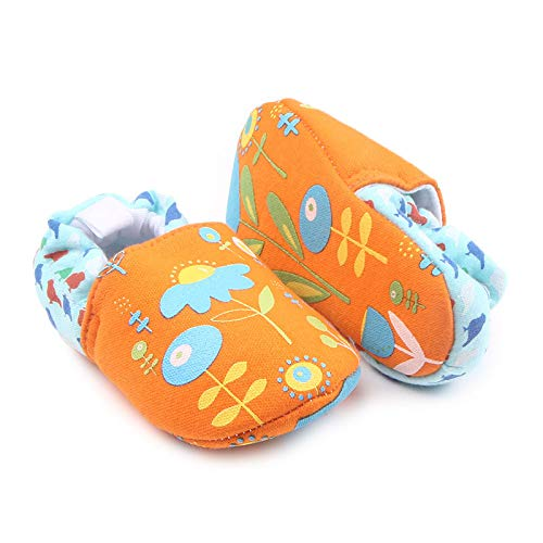 Lovely Baby Orange Daisy Newborn Shoes Anti Slip Baby Shoes Cartoon Prewalker Soft Bottom Bebe Infant Shoes First Walkers Fashion Slippers