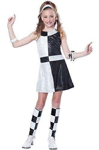 Child's Groovy Girl 60's Costume (Disco Groovy 60's Mod Chic Dress Child Girls Tween Costume)