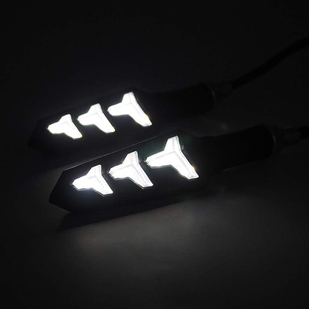 TABEN indicatori di direzione universali a LED per Moto 1 Coppia Luce Bianca Impermeabili indicatore di direzione