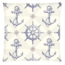 Coolest Steering Wheel Anchor Pillowcase Zippered Pillow Case 16x16 Standard Size(Twin sides)