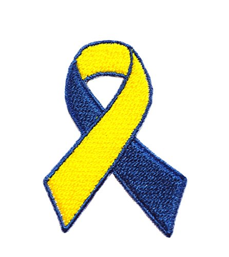 Down Syndrome Ribbon Awareness - Down Syndrome Awareness Ribbon Embroidered Sew/Iron On Patch 2.5