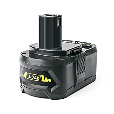 efluky 3.0Ah Replacement P108 ONE+ 18-Volt Lithium Battery for Ryobi P104 P105 P102 P103 P107 P108