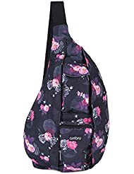 Ambry Rope Sling Bag - Canvas Bag with Adjustable Shoulder Strap - Compact Backpack Design Carries All Your Important...