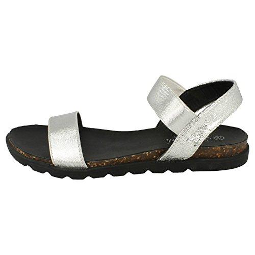 Damen Savannah Sommer Sandalen Silber