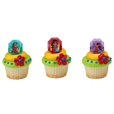 Disney's Elena of Avalor Noble Heart Licenced Cupcake Rings 24 Count: Kitchen & Dining