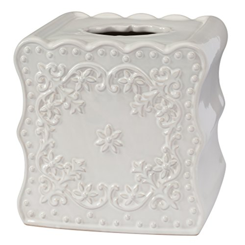 State Tissue Box Cover - Creative Bath Products Ruffles Tissue Cover