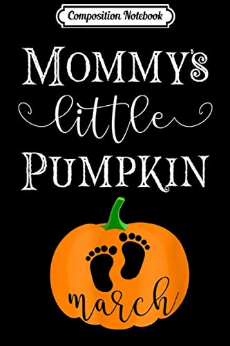 White Marsh Halloween (Composition Notebook: Halloween Pregnancy Due Date in March 2020 Pumpkin Journal/Notebook Blank Lined Ruled 6x9 100)